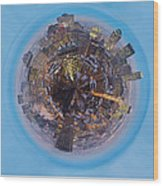 Planet Wee Montreal Quebec Wood Print