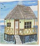 Plank Leads To A Hut Wood Print