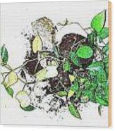 Plant Falls Wood Print