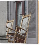 Plantation Rocking Chairs Wood Print