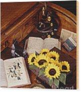 Plants And Seeds Wood Print