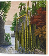 Plants Of The Triassic Period Wood Print