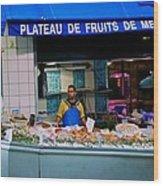 Plateau De Fruits De Mer Wood Print