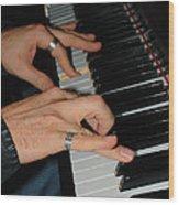 Play Me A Song Piano Man Wood Print