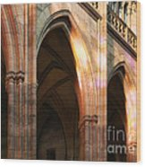Play Of Light And Shadow - Saint Vitus' Cathedral Prague Castle Wood Print