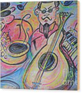Play The Blues Wood Print by M C Sturman