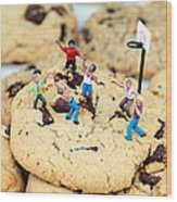 Playing Basketball On Cookies II Wood Print by Paul Ge