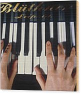 Playing The Piano. Wood Print by Damien Lovegrove