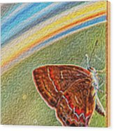 Playroom Butterfly Wood Print