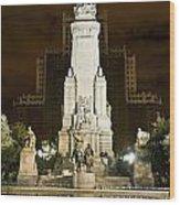 Plaza De Espana Madrid Spain Wood Print