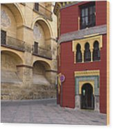 Plaza Del Triunfo In Cordoba Wood Print