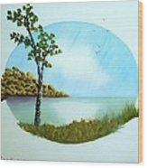 Pleasant Day By The Lake. Wood Print