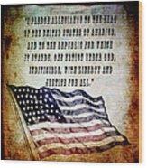 Pledge Wood Print