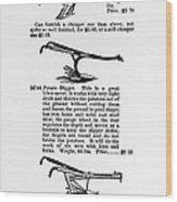Plow Advertisement, C1890 Wood Print