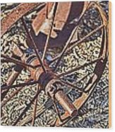 Plow Wheel Wood Print