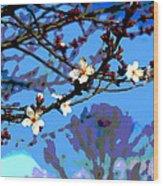 Plum Tree Blossom Wood Print