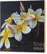 Plumeria Bouquet Wood Print