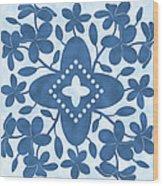Plumeria Hawaiian Quilt Block Wood Print