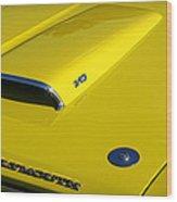 Plymouth Duster 340 Hood Scoop Wood Print