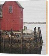 Pockport Harbor Wood Print