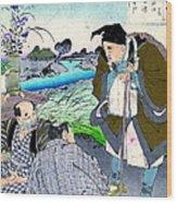 Poet Matsuo Basho 1881 Wood Print
