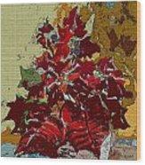 Poinsettia Elegant Wood Print