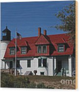 Point Betsie Light Station Wood Print