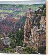 Point Imperial Cliffs Grand Canyon Wood Print