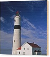 Point Lamour Lighthouse Wood Print