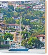 Point Loma Harbor Side Wood Print