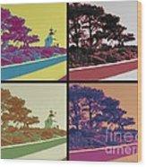 Point Loma Lighthouse Warhol Wood Print