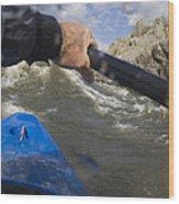 Point Of View White Water Kayaking Wood Print