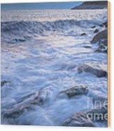 Point Shirley Surf Wood Print