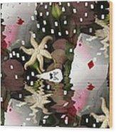 Poker Pop Art All In Wood Print by Pepita Selles