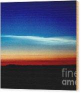 Polar Stratospheric Clouds Wood Print