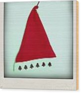 Polaroid Of A Christmas Hat Wood Print
