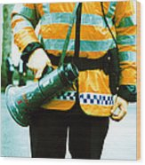Police Officer Wood Print