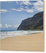 Polihale Beach Wood Print