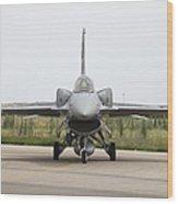 Polish F-16c Block 52 At Albacete Wood Print