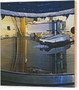 Polishing Of Mirror For Use In Gemini Telescope Wood Print