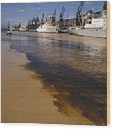 Polluted Water, Rio De La Plata Wood Print by Bernard Wolff