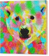 Polychromatic Polar Bear Wood Print