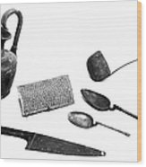 Pompeii: Kitchen Utensils Wood Print