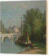 Pont Du Carrousel Wood Print