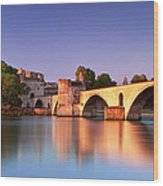Pont St. Benezet Wood Print