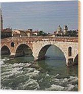 Ponte Pietra Wood Print