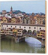 Ponte Vecchio From Uffizi Wood Print