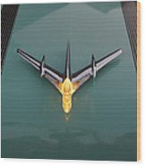 Pontiac Hood Ornament Lit Wood Print