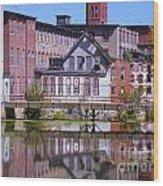 Pontiac Mills Dam Wood Print