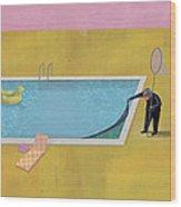 Pool Animal 01 Wood Print by Dennis Wunsch